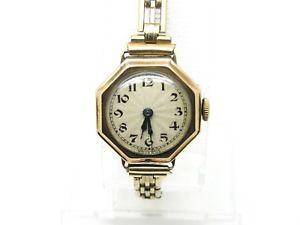 【送料無料】腕時計 ウォッチ?レディースゴールドジュエルスイスムーブメントケースc1930s ladies 9ct gold cased watch with 15 jewel swiss movement, working