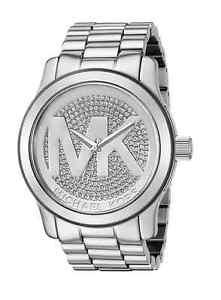 【送料無料】腕時計 ウォッチミハエルステンレスロゴ michael kors runway silver pave stainless steel logo mk5544 women watch