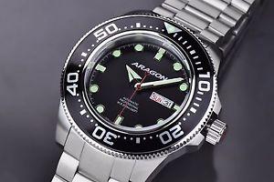 腕時計 ウォッチアラゴンダイブマスターウォッチaragon a054blk divemaster automatic 50mm watch