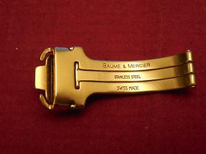 腕時計 ウォッチボーメメルシエクラスプバックルゴールドトーンスチールミリミリ