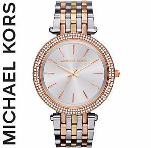 【送料無料】腕時計 ウォッチミハエルシルバーローズゴールドデザイナーmichael kors mk3203 womens darci glitz silver rose gold designer watch