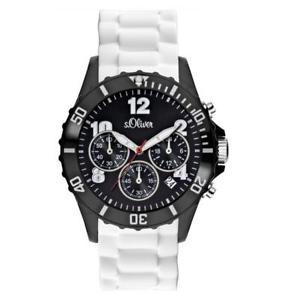 【送料無料】腕時計 ウォッチオリバーウォッチアナログクロノグラフシリコンsoliver big herrenuhr so2324pc analog chronograph silikon wei