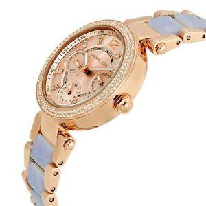 腕時計 ウォッチミハエルレディースクロノミニパーカーローズゴールドトーンラウンドウォッチmichael kors mini parker chrono multi function ladies rose gold tone round watch