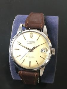 【送料無料】腕時計 ウォッチneues angebotvintage gents nidor vibraflex wrist watch from the 1950s
