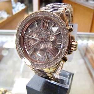 【送料無料】腕時計 ウォッチミハエルローズゴールドトーンクリスタルアセテートレンウォッチ michael kors womens wren pav acetate crystal rose gold tone watch mk6159
