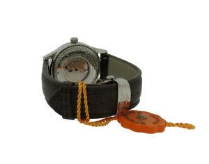 腕時計 ウォッチメンズラウンドstuhrling 91b32152b mens round date silver tone automatic watch
