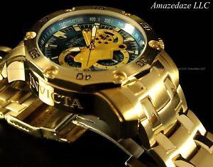 【送料無料】腕時計 ウォッチkゴールドステンレススチールクロノグラフスキューバウォッチ invicta mens 18k gold plated stainless steel scuba 30 chronograph watch