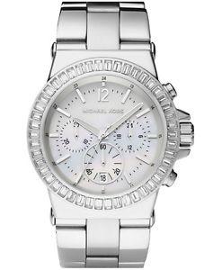 【送料無料】腕時計 ウォッチ michael kors dylan silver chrono stainless steel mk5411 womens glitz watch