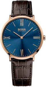 【送料無料】腕時計 ウォッチメンズヒューゴボスジャクソンブラウンレザーストラップウォッチ