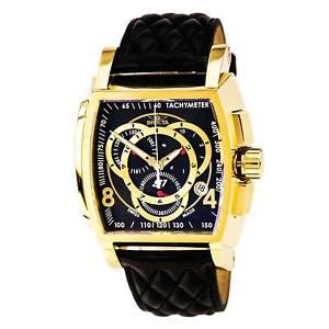 【送料無料】腕時計 ウォッチメンズラリーブラックレザーストラップクロノグラフウォッチ