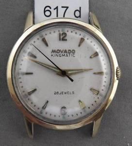 【送料無料】腕時計 ウォッチビンテージキングメンズオートマチックジュエルvintage movado kingmatic 28 jewel autowind mens wrist watch