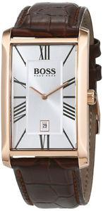 【送料無料】腕時計 ウォッチヒューゴボスメンズアドミラルクオーツステンレススチールブラウンレザーウォッチhugo boss mens admiral quartz stainless steelbrown leather watch 1513436