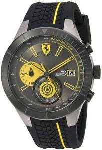 【送料無料】腕時計 ウォッチメンズスクーデリアフェラーリレッドクロノグラフウォッチmens scuderia ferrari red rev evo chronograph watch 830342