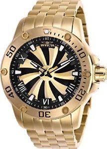 【送料無料】腕時計 ウォッチスチールブレスレットスピードウェイタービンウォッチinvicta 25850 speedway turbine gold plated steel bracelet automatic 52mm watch