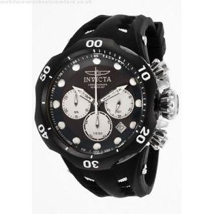 【送料無料】腕時計 ウォッチメンズクロノグラフブラックラバーストラップウォッチ