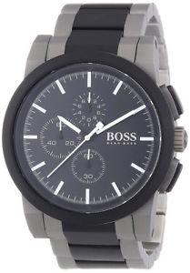 腕時計 ウォッチヒューゴボスメンズクラシッククロノグラフトーンステンレススチールウォッチhugo boss mens classic chronograph two tone stainless steel watch 1512958