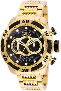 【送料無料】腕時計 ウォッチメンズスピードウェイクォーツクロノゴールドスチールウォッチinvicta mens speedway quartz chrono 100m goldplated s steel watch 25484