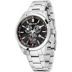 【送料無料】腕時計 ウォッチセクタークロノサブメートルorologio uomo sector 180 r3273690008 chrono bracciale acciaio nero sub 100mt