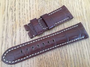 【送料無料】腕時計 ウォッチィチーネパネライバージョンアンティークブラウンワニicine panerai oem 26mm antique brown croc for tang latest version