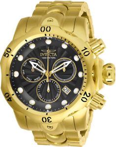 【送料無料】腕時計 ウォッチメンズクォーツクロノグラフステンレススチールinvicta mens venom quartz chronograph gold plated stainless steel watch 25904
