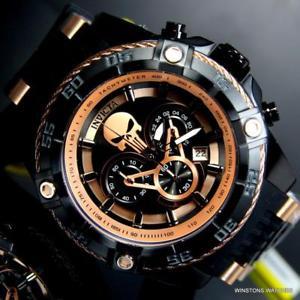 【送料無料】腕時計 ウォッチスピードウェイクロノグラフローズゴールドトーンウォッチinvicta marvel punisher speedway viper 52mm chronograph rose gold tone watch