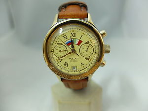 design di qualità 205da 713cf Watch watch chronograph graphical Moscow Rome manual orologio poljot  chronografo moscow 1992 rome carica manuale acciaio oro uom