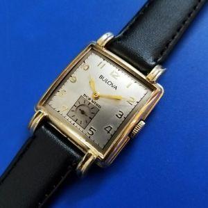 【送料無料】腕時計 ウォッチビンテージルマンファンシーケースサービスexquisite vintage 1950 mans bulova *bryant* hand winding fancy case serviced
