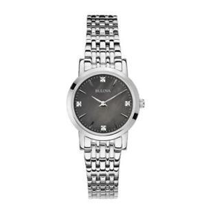 腕時計 ウォッチソロテンポカサマドレペルラネロorologio solo tempo donna bulova 96s148 cassa acciaio quadrante madreperla nero