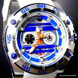 腕時計 ウォッチクロノグラフシリコンウォッチinvicta r2d2 star wars chronograph limited edition white 52mm silicone watch