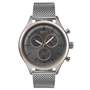 腕時計 ウォッチヒューゴボスメンズコンパニオンクロノグラフウォッチステンレスhugo boss mens companion chronograph watch, stainless steel, 1513549