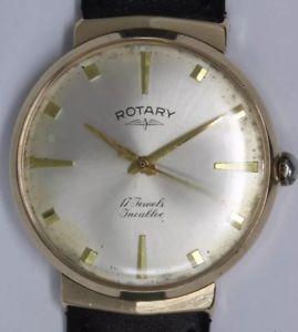 【送料無料】腕時計 ウォッチゴールドロータリフードラググラムケース1965mens 9ct gold rotary hooded lugs wristwatch103 gram case