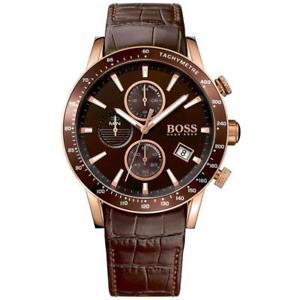 【送料無料】腕時計 ウォッチラファルヒューゴボスブラックレザーメンズウォッチ