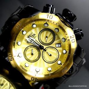 【送料無料】腕時計 ウォッチスイスクロノグラフスチールゴールドトーンウォッチ