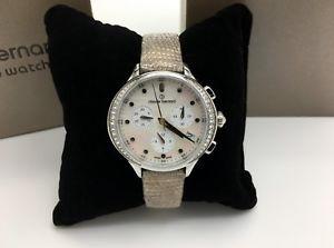 【送料無料】腕時計 ウォッチクロードパールクロノグラフスイスベルナールコードウォッチclaude bernard by edox womens code chronograph swiss mother of pearl watch