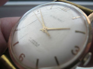 【送料無料】腕時計 ウォッチビンテージホールgents vintage hallmarked baume 9ct gold watch
