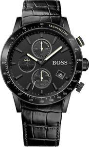 腕時計 ウォッチメンズヒューゴボスラファルクロノグラフレザーストラップウォッチmens hugo boss rafale chronograph leather strap watch 1513389