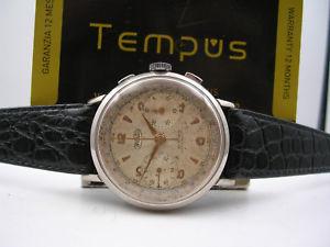 【送料無料】腕時計 ウォッチグラフィカルマニュアルcronografo wertex oversize 37mm anni 50 manuale 21 rubis orologio uomo