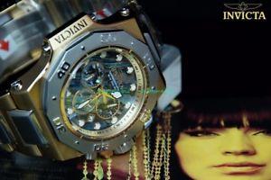 【送料無料】腕時計 ウォッチメンズクロノグラフイエローステンレススチール invicta akula mens chronograph 58mm 14k yellow gt stainless steel watch 5*