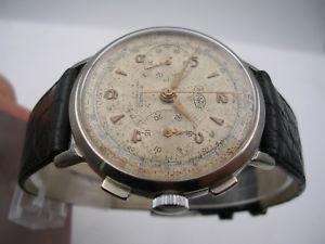 腕時計 ウォッチグラフィカルマニュアルcronografo wertex oversize 37mm anni 50 manuale 21 rubis orologio uomo