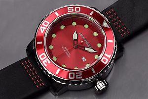 腕時計 ウォッチアラゴンゲージaragon a174red gauge automatic 55mm