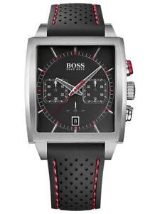 【送料無料】腕時計 ウォッチヒューゴボスクロノシルバーカラーブラックレッド