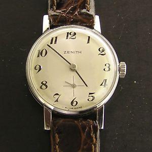 腕時計 ウォッチオロロジオメッカニマニュアルorologio zenith da donna in acciaio meccanico manuale anni 50