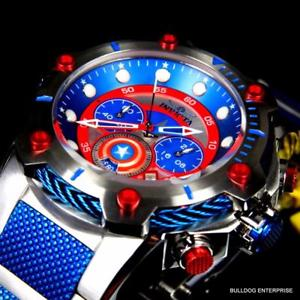 腕時計 ウォッチマーベルキャプテンアメリカボルトスチールエドクロノグラフウォッチinvicta marvel captain america bolt 51mm steel limited ed chronograph watch