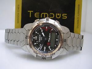 【送料無料】腕時計 ウォッチグラフィカルティソタッチcronografo tissot ttouch titanium amp; carbonio braccialato orologio uomo