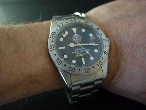 腕時計 ウォッチメンズダイバーヴィンテージmens rare folgore brigata paracadutisti gmt military diver vintage watch uhr