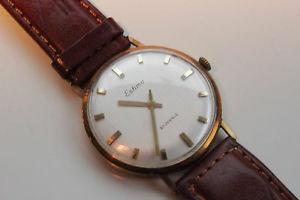 【送料無料】腕時計 ウォッチエスティマハウestima hau herrenuhr, gents wristwatch, gold 585, ca 1970, top zustand