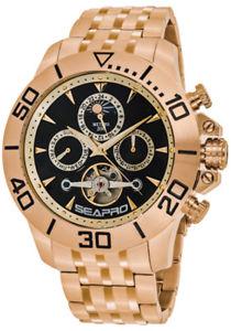 【送料無料】腕時計 ウォッチmクロノローズゴールドステンレススチールseapro mens montecillo auto 200m chrono rose gold stainless steel watch sp5132