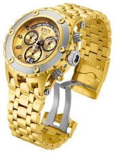【送料無料】腕時計 ウォッチメンズゴールドスチールブレスレットウォッチinvicta mens 52mm reserve specialty subaqua gold steel bracelet watch 80489