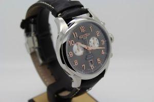 腕時計 ウォッチローマーブランドクロノメンズウォッチクロノグラフサファイアクリスタルroamer soleure chrono 540951 49 06 05 herrenuhr chronograph saphirglas