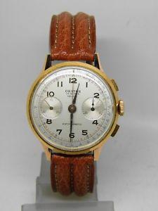 【送料無料】腕時計 ウォッチクロノグラフプラークビンテージクロノchronographe orator plaqu or mouvement landeron ,vintage chrono